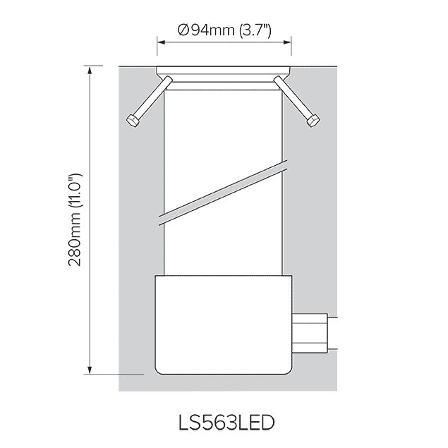"1/2"" NPT adapter for LS563LED."